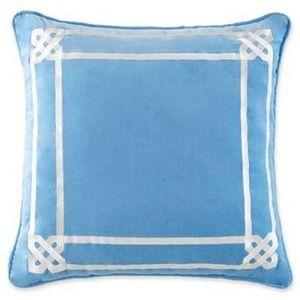 Jonathan Adler Throw Pillow Blue Happy Chic